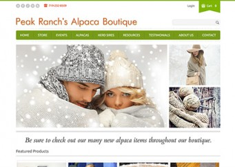Peak Ranch Alpacas – Web Design and Development