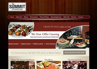 The Summit Steakhouse – Web Design and Development